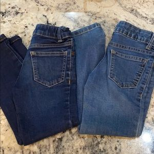 Two pair child jeans